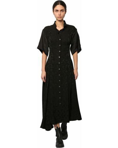 Платье мини короткое - черное Loewe