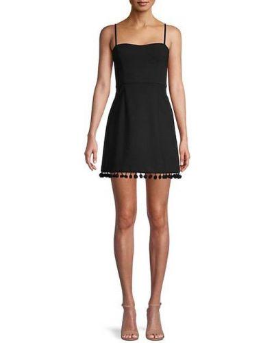 Свободное черное платье мини без рукавов French Connection