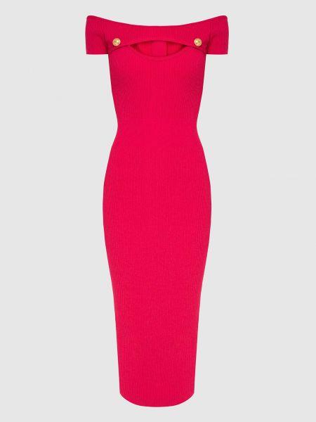 Платье миди - розовое Balmain