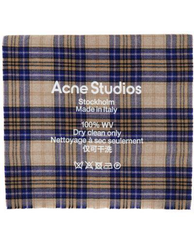 Wełniany biały szalik prostokątny Acne Studios
