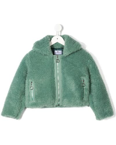 С рукавами зеленая куртка с карманами с воротником Raspberry Plum