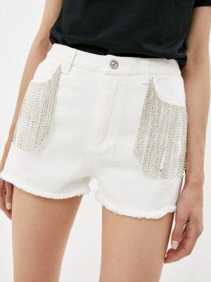 Белые джинсовые шорты Silvian Heach