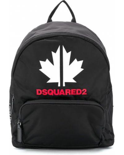Черный рюкзак с карманами для полных Dsquared2 Kids