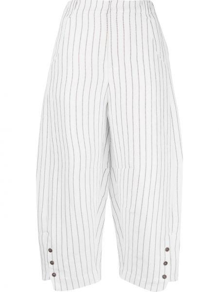 Укороченные брюки с поясом свободного кроя Renli Su