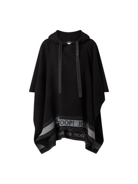 Ponczo wełniany - czarny Joop!