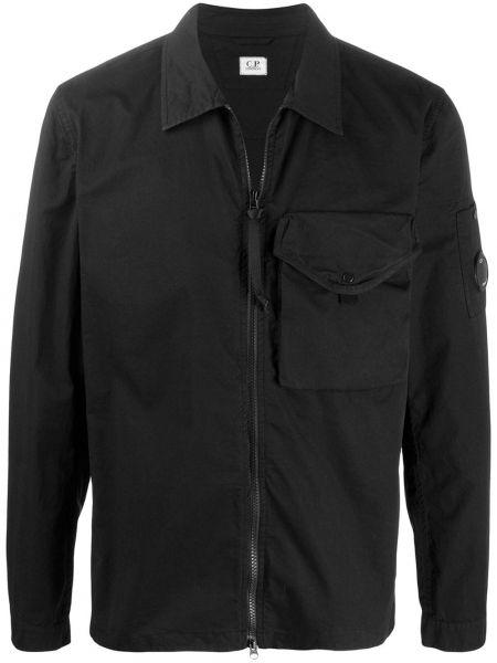 Длинная куртка черная с подкладкой Cp Company Kids