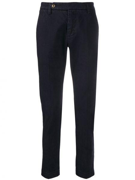 Синие брюки чиносы с поясом на пуговицах узкого кроя Entre Amis