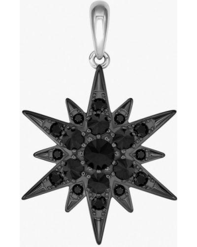 Кулон из серебра черный Valtera