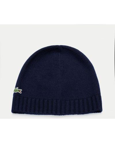 Кашемировая шапка - синяя Lacoste
