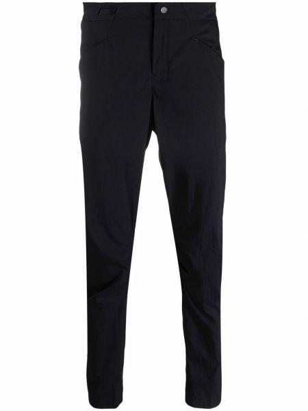 Czarne spodnie bawełniane z printem Arcteryx