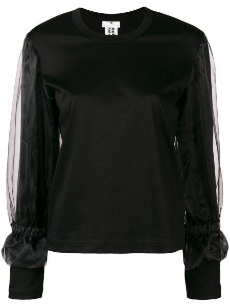 Прямая черная толстовка с вырезом узкого кроя Comme Des Garçons Noir Kei Ninomiya