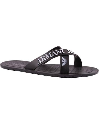 Шлепанцы черные Armani Jeans
