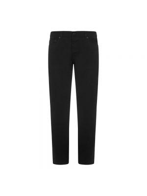 Spodnie bawełniane - czarne Saint Laurent