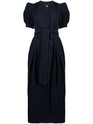 Niebieska sukienka mini z jedwabiu Gabriela Hearst