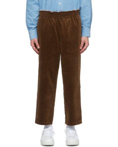 Брючные серебряные брюки с карманами вельветовые Camiel Fortgens