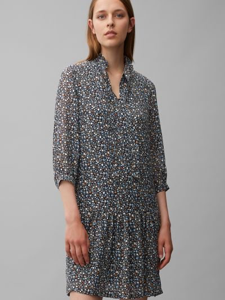 Текстильное повседневное платье-рубашка Marc O'polo