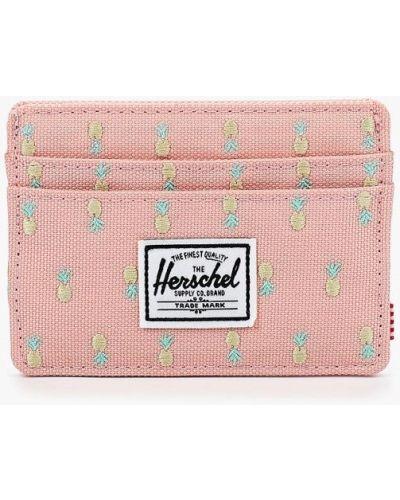 Розовая визитница Herschel Supply Co