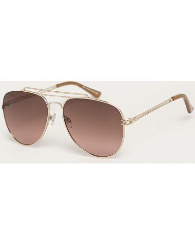 Brązowe złote okulary Medicine
