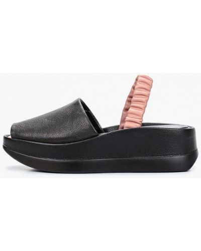 Босоножки черные кожаные Berkonty