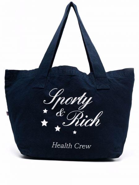 Biała torebka z printem Sporty And Rich