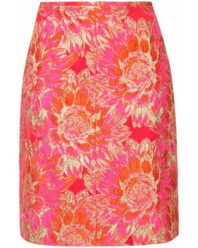 Юбка мини с завышенной талией розовая Ginger & Smart