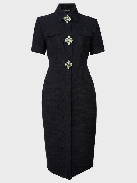 Шерстяное платье - черное David Koma