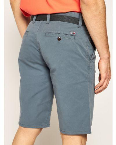 Szare szorty jeansowe materiałowe vintage Tommy Jeans