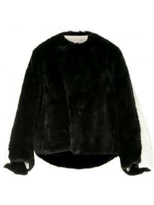 Черная стеганая куртка с нашивками Maison Mihara Yasuhiro