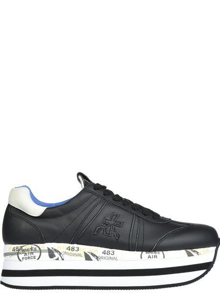 Кроссовки на платформе черные Premiata