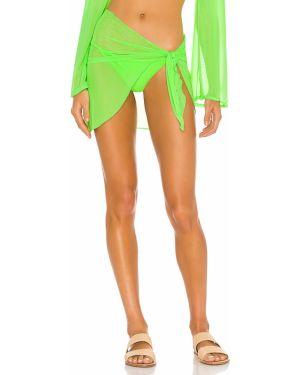 Zielona spódnica na plażę z siateczką Ellejay