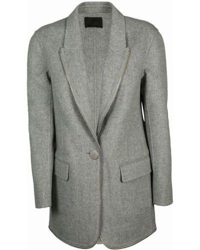 Płaszcz wełniany - szary Alexander Wang