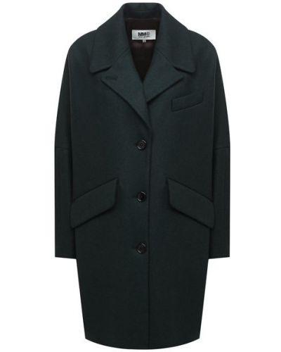 Шерстяное пальто с подкладкой Mm6
