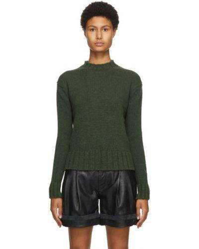 Кашемировый свитер с воротником хаки с манжетами Victoria Beckham