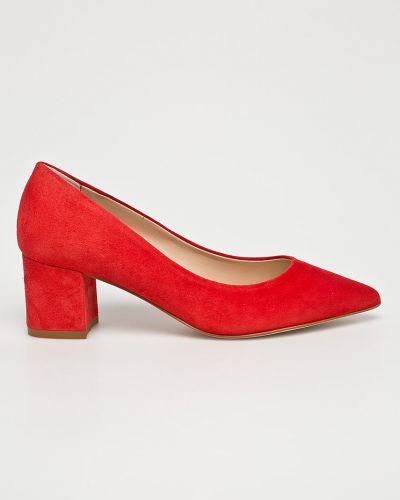 Туфли на каблуке замшевые кожаные Solo Femme