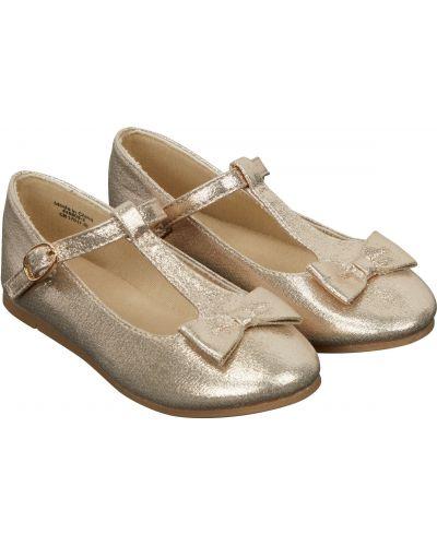 Туфли золотой с пряжкой Mothercare