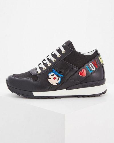 Черные высокие кроссовки Love Moschino