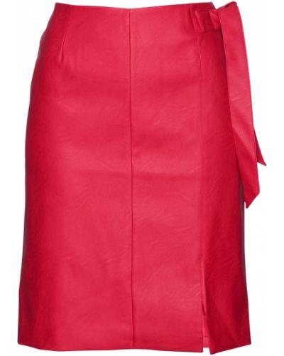 Кожаная юбка из искусственной кожи красный Bonprix