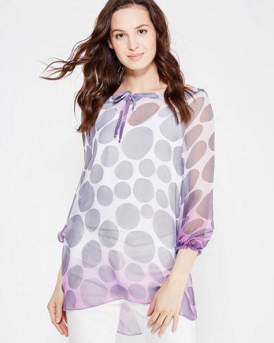 Блузка с длинным рукавом серая Adzhedo
