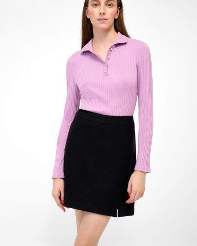 T-shirt bawełniana - fioletowa Orsay