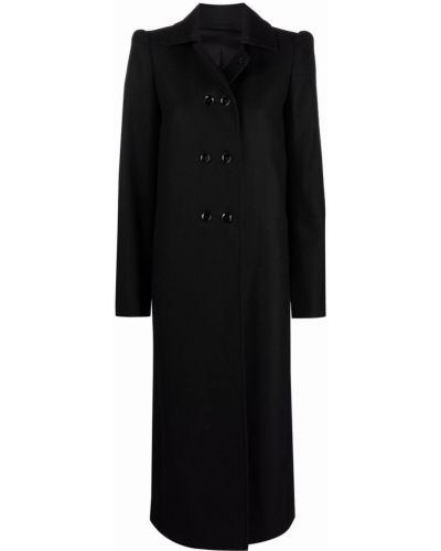 Шерстяное пальто - черное Lemaire