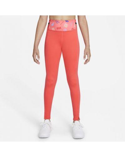 Legginsy - pomarańczowe Nike
