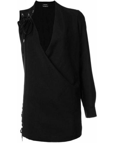 Платье на одно плечо на шнуровке Anthony Vaccarello
