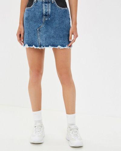 Джинсовая юбка синяя индийский Guess Jeans