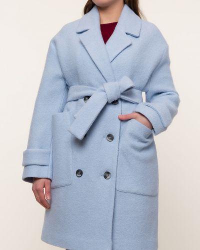 Прямое шерстяное пальто с воротником Lab Fashion