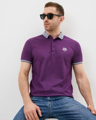 Фиолетовое поло с короткими рукавами Fine Joyce