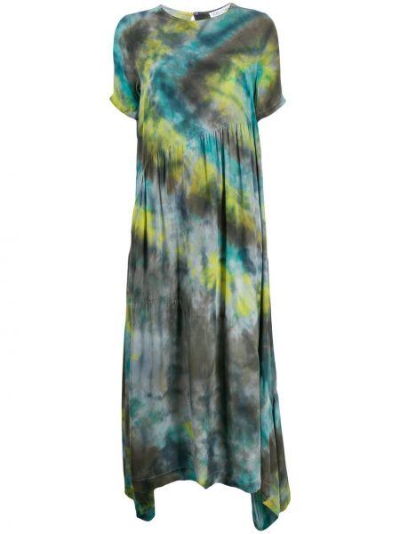Sukienka długa krótki rękaw - niebieska Collina Strada