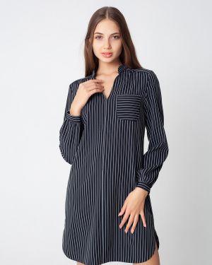Платье макси в полоску на пуговицах Victoria Filippova
