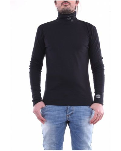 Czarny pulower na co dzień z długimi rękawami Versace Jeans Couture