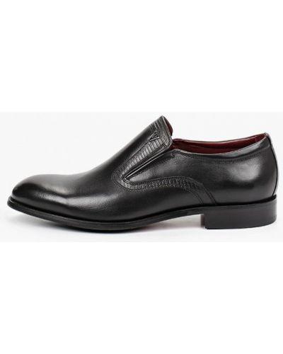Черные кожаные туфли El'rosso