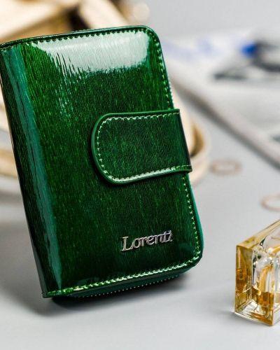 Zielony portfel srebrny Lorenti